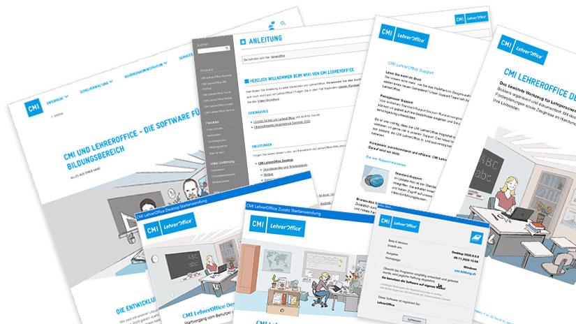neues Design von CMI LehrerOffice