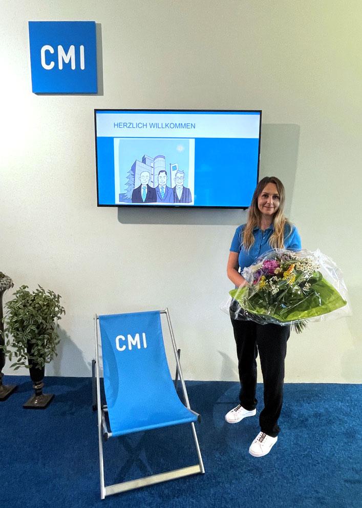 Andrea Odermatt ist die 100. CMI-Mitarbeiterin